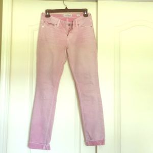Light pink lucky jeans